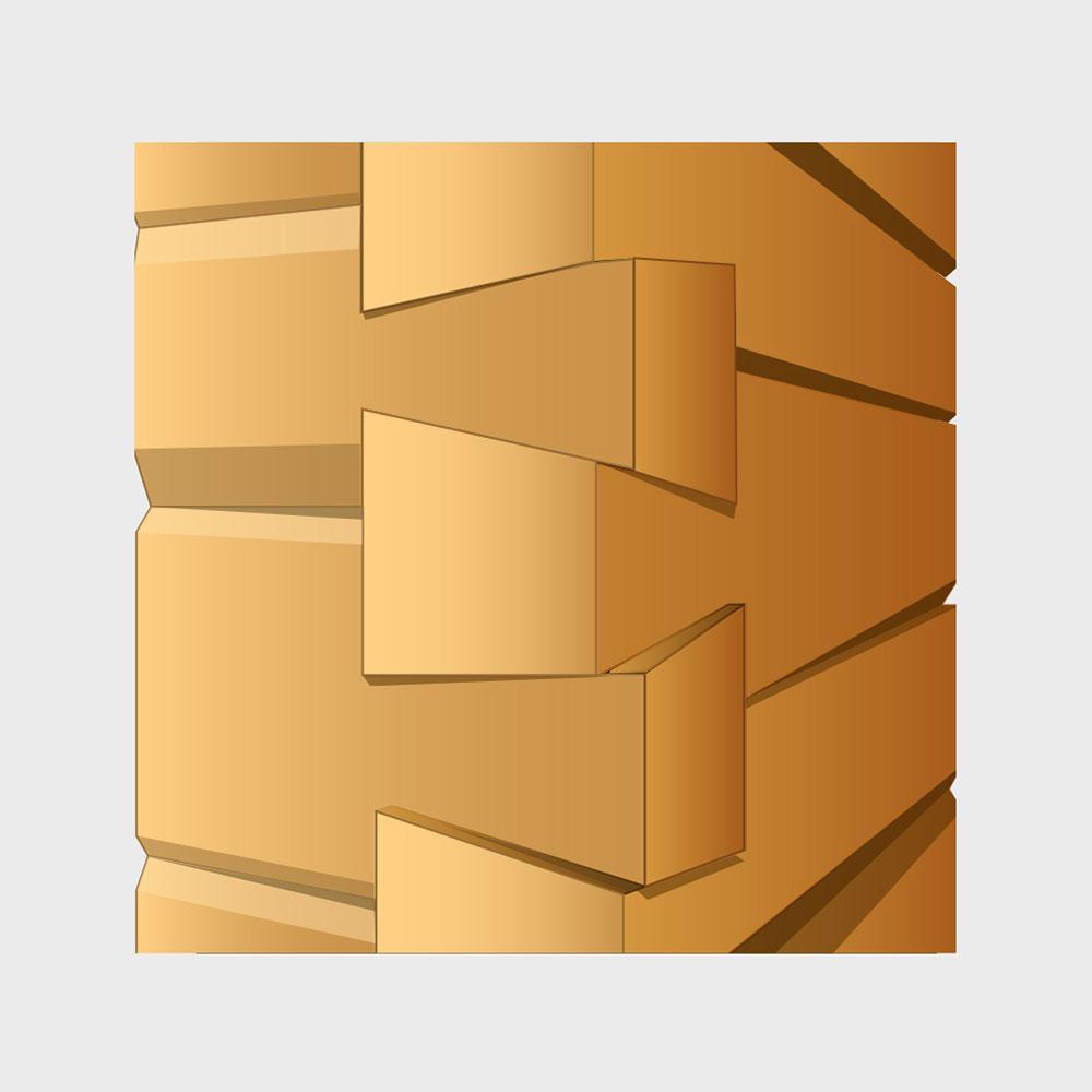 Blockhaus-Bauweise
